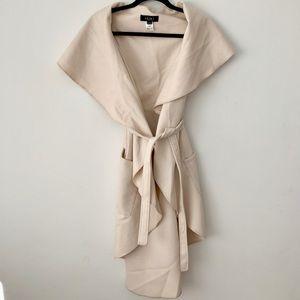 AKIRA Tie Waist Longline Belted Vest Coat
